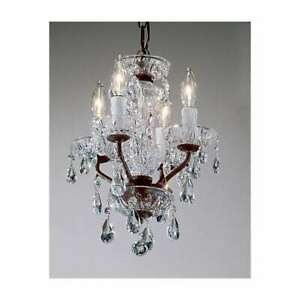 Classic Lighting Daniele Crystal Mini-Chandelier, English Bronze - 8384EBC