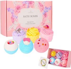 Bath Bomb GIFT Set Handmade LADIES Girls Women Luxury Lush PAMPER Wrapped Boxed