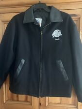 Planet Hollywood Paris Wool (With Leather Trim)  Jacket Black Size Medium