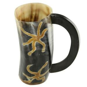 All Natural Viking Earth Essence Drinking Dining Hall Bovine Horn Beer Mug