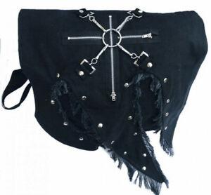 Gothic Wacken Punk Metal Schultertasche Umhängetasche Tasche Comitis Nieten Neu