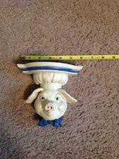 Pig Kitchen Keeper Shelf Shenandoah Designs NIB Pig In Baker Hat