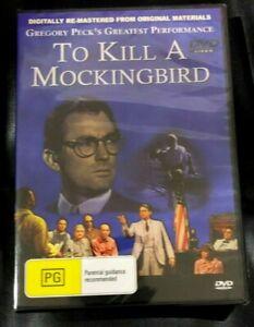 To Kill A Mockingbird (2004 : 1 Disc DVD) Brand New Sealed in Plastic Region 4