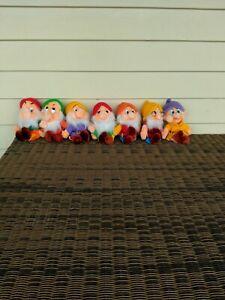 Walt Disney Company Vintage 1980's Seven Dwarfs plush toys - full set 35 cms