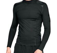 Under Armour Ua Men Perpetual Powerprint Mock Compression Triple Black Shirt 2Xl