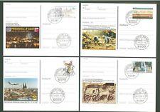 Stationery An32 Postcard Sc Germany 1991/93 Philately (4 pcs) Below face
