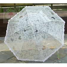 Victorian Rainproof Ivory Heart/Lace Design Bridal/Wedding Umbrella/Parasol