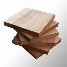 4xHocker Holzplatten rechteckig aus Massivholz 20x20cm bis 35x35cm Farbe antique