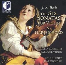 New: BACH / J.S.: 6 Sonatas for Violin & Harpsichord 1  Audio CD