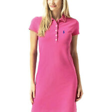 NEW Genuine RALPH LAUREN Pink Classic Cotton Polo Dress Womens Size Large