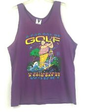 VTG 1992 Mens Tank Top A Bad Day Of Golf Is Better Than A Good Day At Work XL