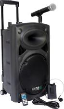 """Ibiza PORT12VHF-BT Mobile Impianto Sonorizzazione 12 """" Cassa Microfono Cuffia"""