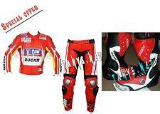 Cheap Deal Ducati Motorcycle Motorbike Racing Motogp Leather Jacket Pant Boot