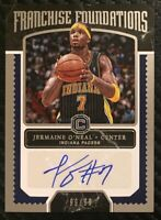 2017-18 Cornerstones Jermaine O'Neal Franchise Foundations Auto 99/99 Pacers
