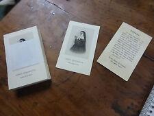 lot de 100 ancienne IMAGE PIEUSE HOLY CARD SAINTE BERNADETTE texte français