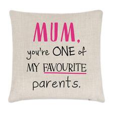 Mamá You'Re Uno de los My Favourite Padres Lino Funda de Cojín Almohada -