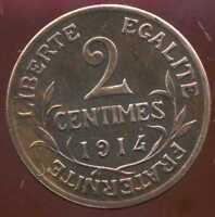 2 centimes DUPUIS 1914  ( SUP )