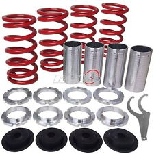 "RED 0""-3"" HONDA/ACURA LOWERING SLEEVE ADJUSTABLE COILOVER SPRING SUSPENSION JDM"