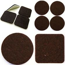 BROWN Square & Round FELT PADS Furniture Legs ~ VHB Self Adhesive STICKY PADS