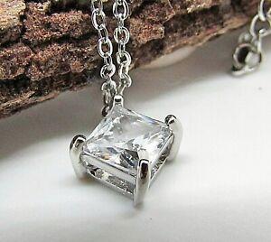 Punto luce con zircone catenina collana in acciaio per donna da ciondolo regalo