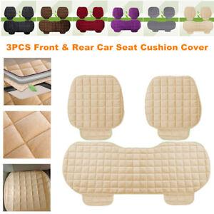 3PCS Full Set Breathable Anti Slip Car Seat Cushion Cover Pad Mat Nonslip Winter