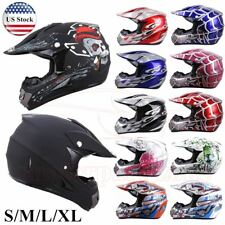 DOT Youth Adult Helmet Child Kids Motorcycle Full Face Offroad Dirt Bike ATV UTV