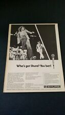 The Who Playing Shure Microphones (1977) Rare Original Print Promo Poster Ad