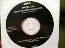 Dell Application Reinstall Cyberlink PowerDVD DX 8.1 Software for DVD Playback