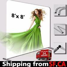 8ft x 8ft,Straight Booth Exhibit Show Tension Fabric Tube Display Wall Stand