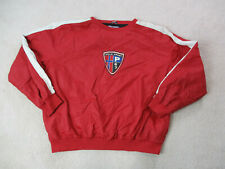 VINTAGE Ralph Lauren Polo Sport Jacket Adult 2XL XXL Red Blue Badge Spell Out *