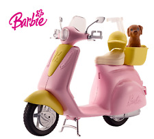 Barbie Pink Moped Scooter Motobike for Doll with Puppy & Accessories Girls Toy!!