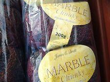 James c brett marble chunky knitting Laine 400g fils Teinte Tricot mc58 Bourgogne