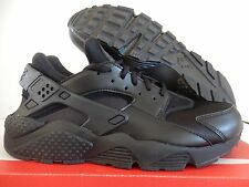 WMNS NIKE AIR HUARACHE RUN BLACK-BLACK SZ 10 [634835-012]