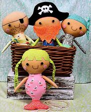 PIRATE POSSE - Sewing Craft PATTERN - Soft Toy Rag Doll Pirates Treasure Chest