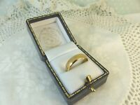 Antique 22ct 22carat Gold Plain Wedding Band Ring 5mm size M 1/2