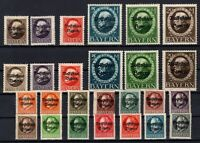 P135621/ BAYERN, OLD GERMANY – YEARS 1919 - 1920 MINT MNH / MH – CV 410 $