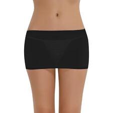 Sexy Women PVC Shiny Leather Wet Look Zipper Front Bodycon Mini Skirt Club Wear
