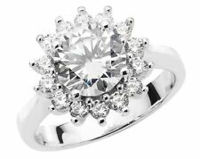 Cluster Beauty Round Costume Rings