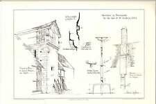 1887 Mezidon Farm Chateau Ouilly-de-houley St Gabriel Priory  Ew Godwin Artwork
