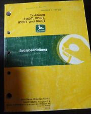 John Deere remorqueur 8100t 8200t 8300t 8400t instructions