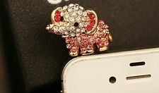 cute Red elephant 3.5mm Anti Dust Plug Cover Stopper Charm for iPhone 5 4/4s