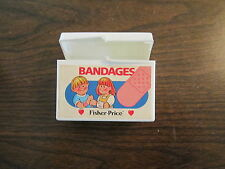 Fisher Price Doctor Dr. Nurse Hospital Medical Kit Band aid box bandages sick