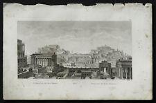 1836:ROMA, RESTAURAZIONE FORO ROMANO.AUDOT.Acciaio..etna