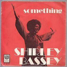 "SHIRLEY BASSEY-SOMETHING-THE BEATLES COVER SONG-ORIGINAL ITALIAN 45rpm 7"" 1970"