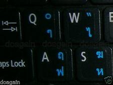High Quality THAI Kedmanee TRANSPARENT Keyboard Stickers BLUE Letters