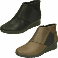Ladies Clarks Caddell Rush Ankle Boots