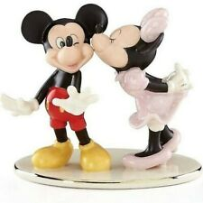 Lenox Disney Minnie Sneaks A Kiss From Mickey Figurine Mouse Love Valentine New