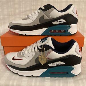 Nike Air Max 90 SE Griffey Jr. Backwards Hat Shoes DJ5190 White Fresh Sz 12.5