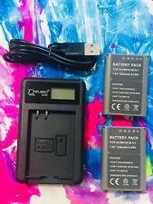2XBLN-1 BLN1 Battery +1XCharger for Olympus OM-D E-M5 EM5, E-M1 EM1, PEN E-P5 AU