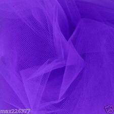"10 yards 60"" inch Tulle fabric Wedding Decoration Bridal quinceanera Purple"